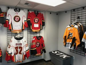 Stockton Thunder jerseys for sale at Stockton Heat game